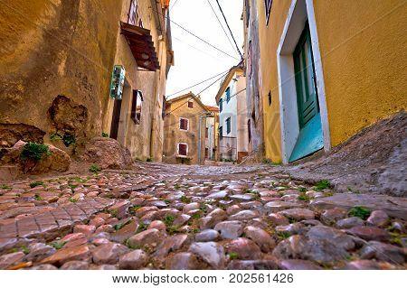Old Adriatic Town Vrbnik Stone Street