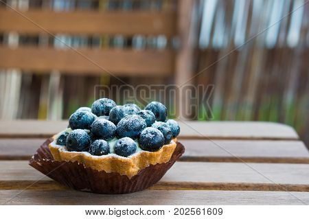 Blueberriy Pie On Table
