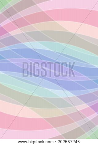 Pastel colored abstract background soft colors in overlapping arc elements vector EPS 10