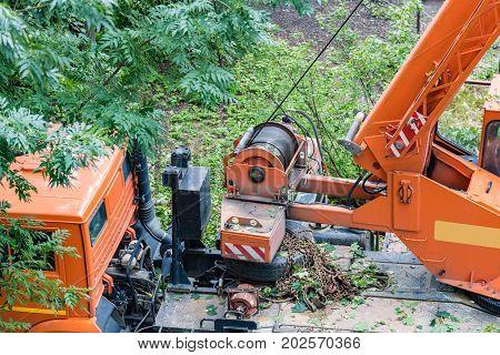 Winch Of Construction Crane