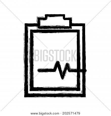 figure medical prescription and check list element vector illustration