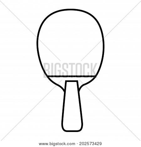 ping pong racket sport icon vector illustration design