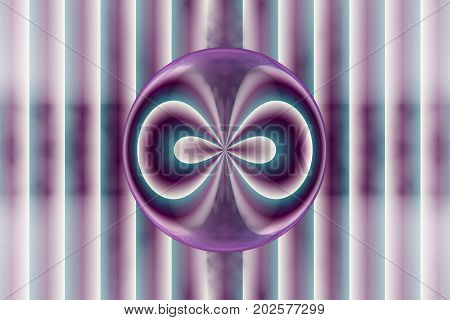 Abstract Blue And Violet Lines On White Background. Fantasy Symmetrical Fractal Texture. 3D Renderin