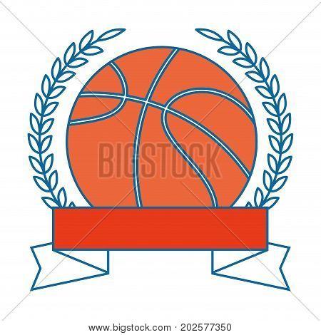 Basketball ball emblem icon vector illustration graphic design