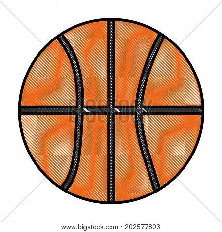 basketball isolated ball icon vector, ilustration graphic, design