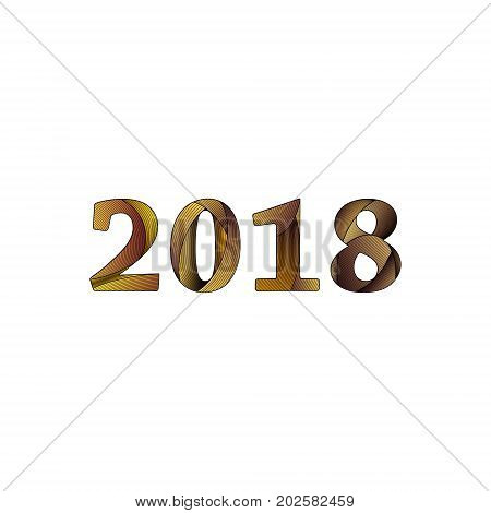 2018 Happy New Year or Christmas Background creative greeting card design, can be used for flyers, invitation, posters, brochure, banners, calendar.