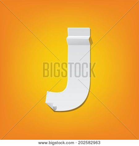 J Capital Letter Fold English Alphabet New Design