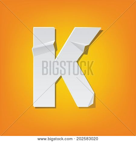 K Capital Letter Fold English Alphabet New Design