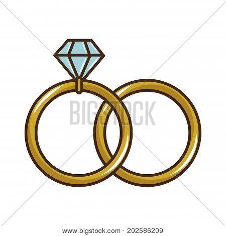 wedding diamond ring icon vector illustration graphic design