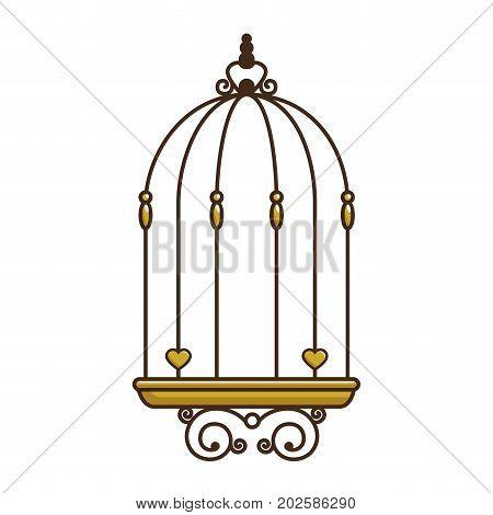 bird cage vintage icon vector illustration, graphic design