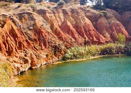 Lake Near A Quarry Of Bauxite, Italy