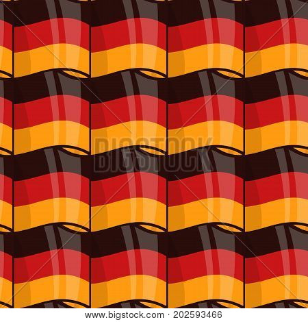 Vector seamless wrapping pattern with waving German flag. National patriotic texture, decoration for, Day of German Unity Deutschen Einheit holiday and Oktoberfest