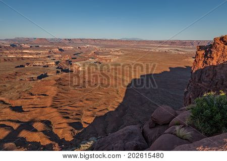 the rugged landscape in Canyonlands National Park Moab Utah