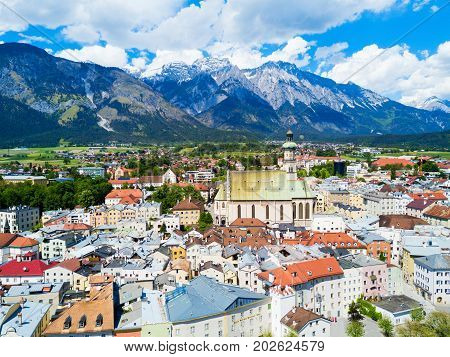 Hall Tirol Aerial View
