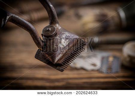 Vintage Barber Shop Tools.