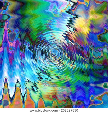 Abstract coloring background of the horizon gradient with visual wave,zigzag,twirl,pinch and lighting effects