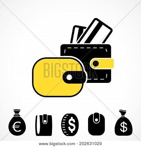 Wallet Or Pocketbook  Icon