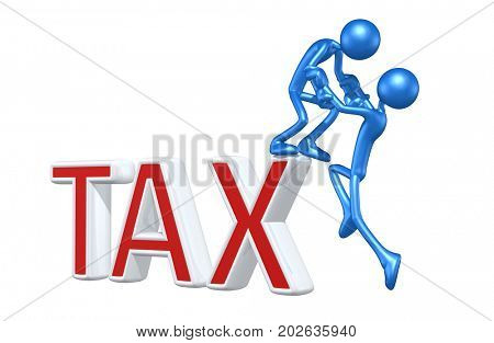 Tax Help The Original 3D Characters Illustration