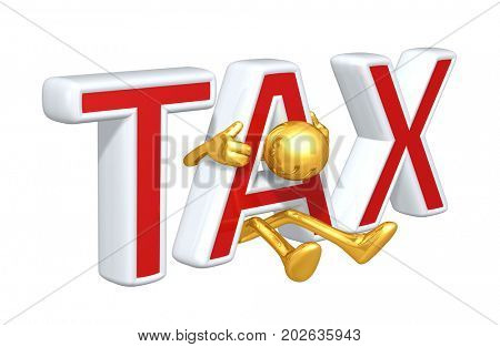 Trapped In Tax The Original 3D Character Illustration