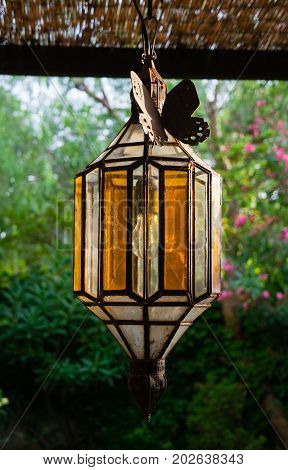 Vintage Outdoor Porch Pendant Lamp Garden Fixture Lights Vintage Terrace Lighting lantern
