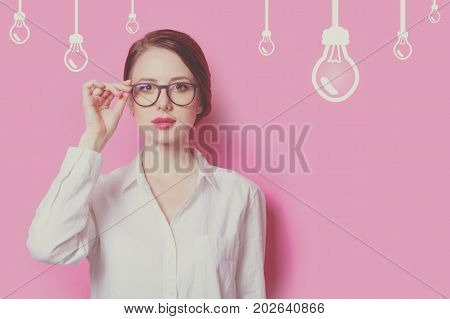 Beautiful Red-haired Businesswoman