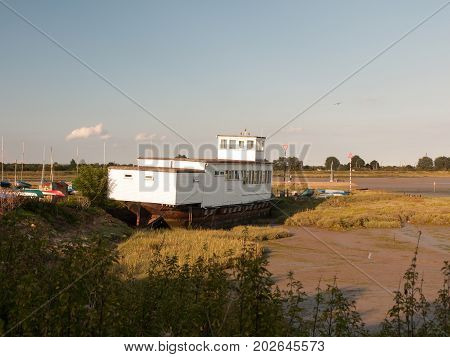 Boat House Sailing Club White Wood Landscape Maldon Black Water