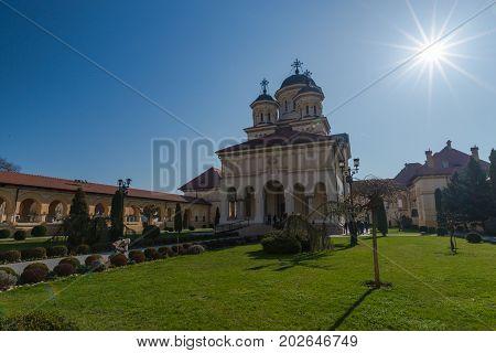 Beautiful view in Alba Iulia  , medieval city in midle of Transylania, Romania