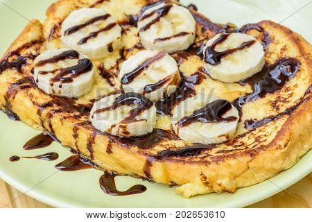 French Toast with Chocolate Banana, Easy desert