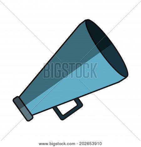 megaphone icon over white background vector illustration