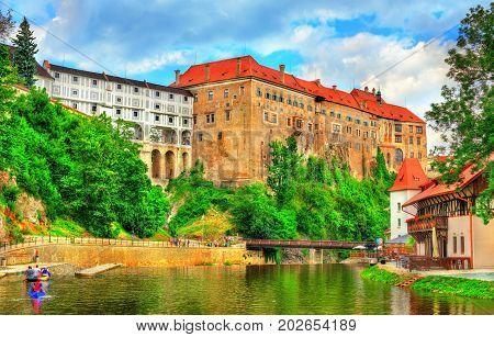 View of Cesky Krumlov Castle in South Bohemia, Czech Republic