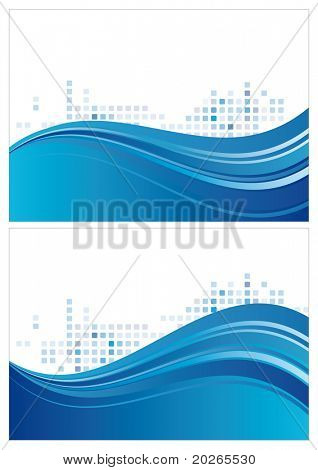 abstract blue background with halftone and wave