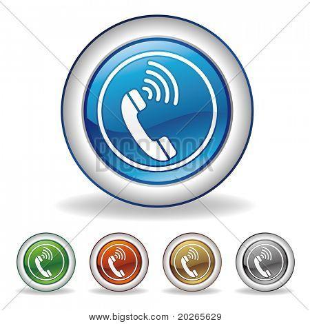 conjunto de iconos de Vector teléfono