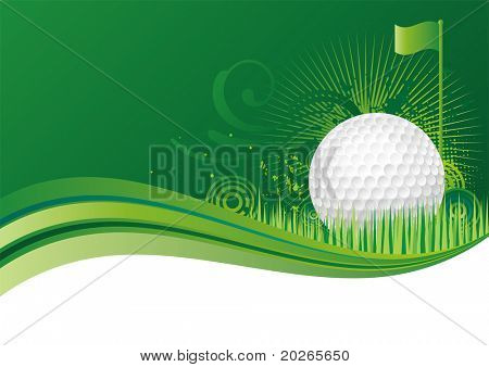 golf design elements,green background