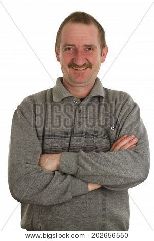 Casual man standing isolate on white Background