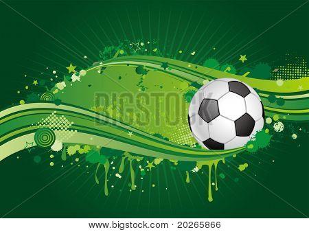 soccer design element,green background