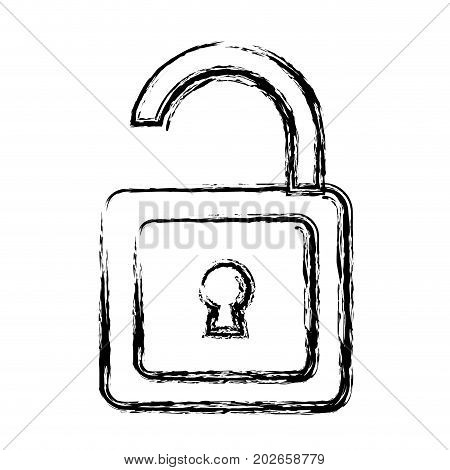 padlock icon over white background vector illustration
