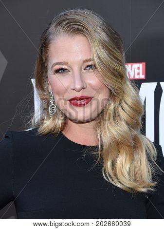LOS ANGELES - AUG 28:  Ellen Woglom arrives for the Marvel's
