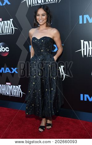 LOS ANGELES - AUG 28:  Sonya Balmores arrives for the Marvel's