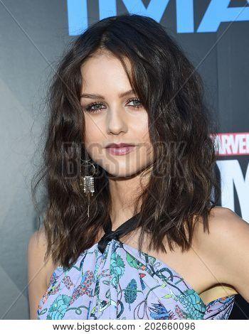 LOS ANGELES - AUG 28:  Isabelle Cornish arrives for the Marvel's