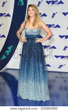 LOS ANGELES - AUG 27:  Julia Michaels arrives for the MTV Video Music Awards 2017 on August 27, 2017 in Inglewood, CA