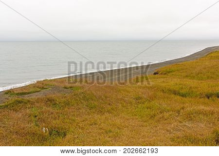 North Slope in the Fall along the Arctic Ocean in Barrow Alaska