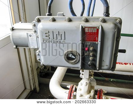 Control Panel For Opening And Closing The Valve.