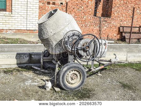 Concrete Mixer. The Construction Equipment And Tools. Concrete Mixer