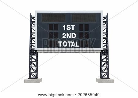 Medium scoreboard on stadium. with clipping path