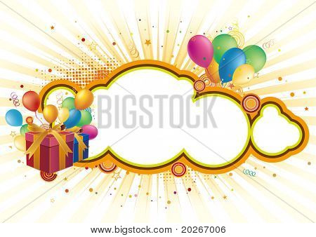 gift box,balloon,celebration background