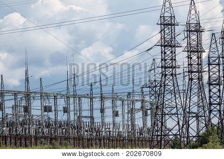 Electric substation of the industrial enterprise .