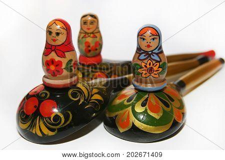 souvenirs of national Russian folk art