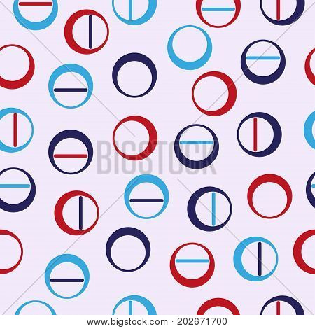Seamless. Circle. Abstract geometric seamless repeat pattern. Modern and stylish abstract design, cover, card design, wallpaper, clothes or web design