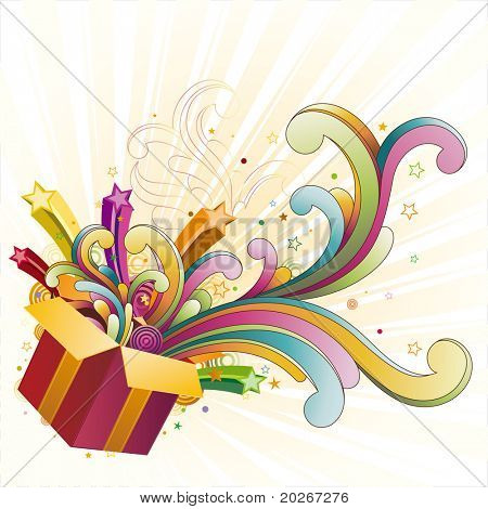 gift box,celebration design element