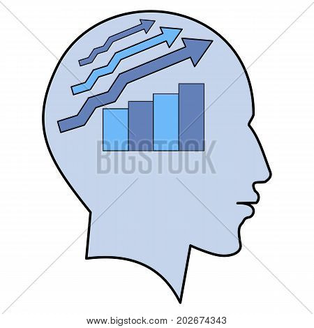 Potential idea solution growth schedule human man head brain concept illustration art